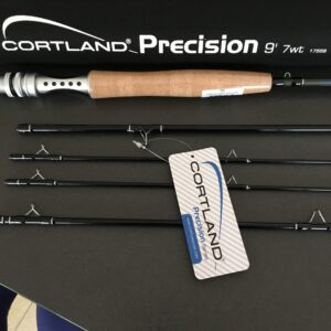 "CORTLAND PRECISION 7'6"" 4WT 4PC FLY ROD,SPARE TIP"