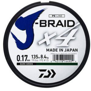 Daiwa j BRAID 135m dark green